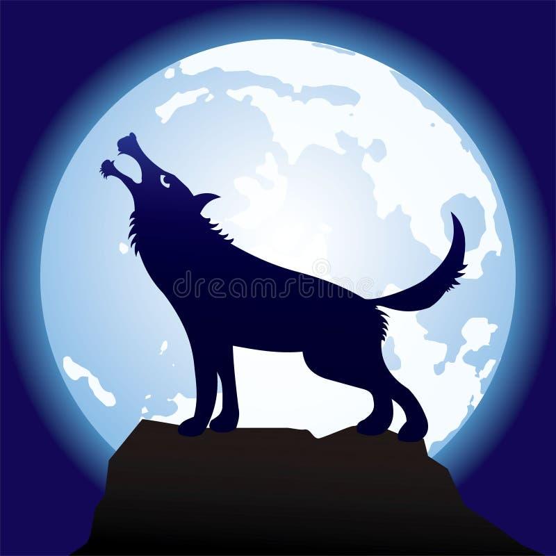 Gris-cruel-loup illustration libre de droits