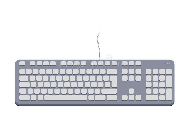 Gris de clavier d'ordinateur image libre de droits