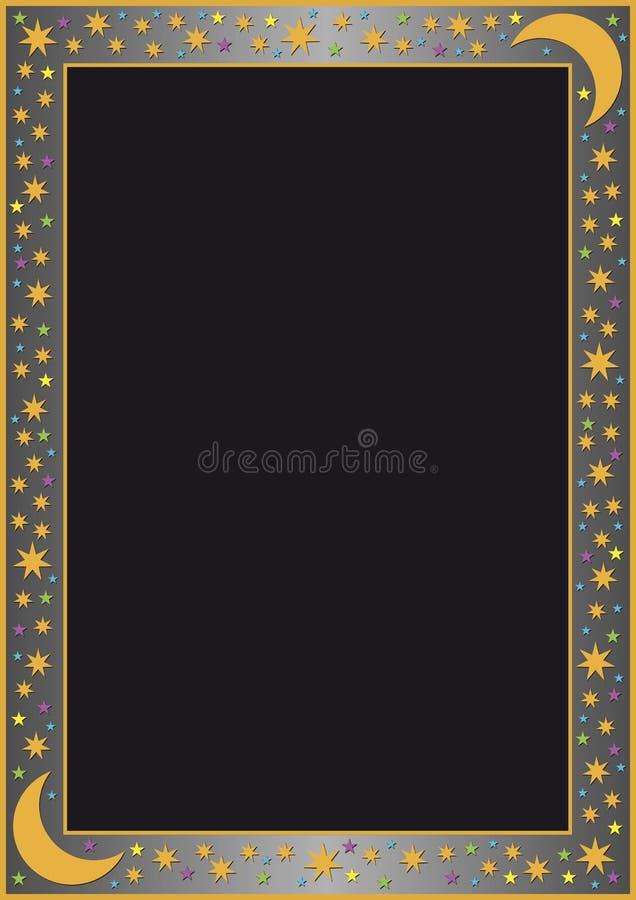gris de gradient de cadre beaucoup d'étoiles illustration libre de droits