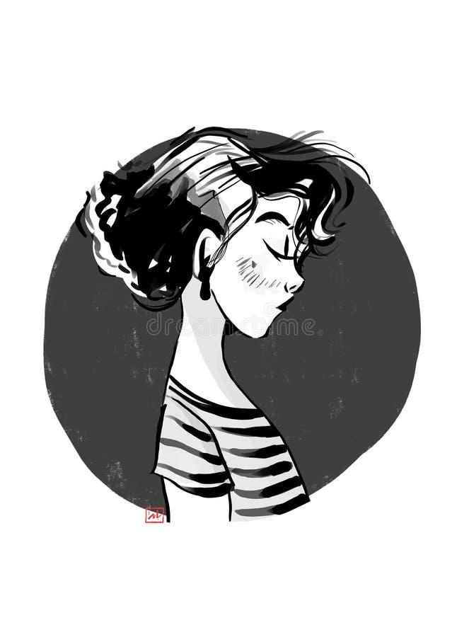 gris de la muchacha foto de archivo