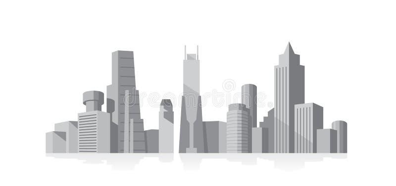 Gris de paysage urbain illustration de vecteur