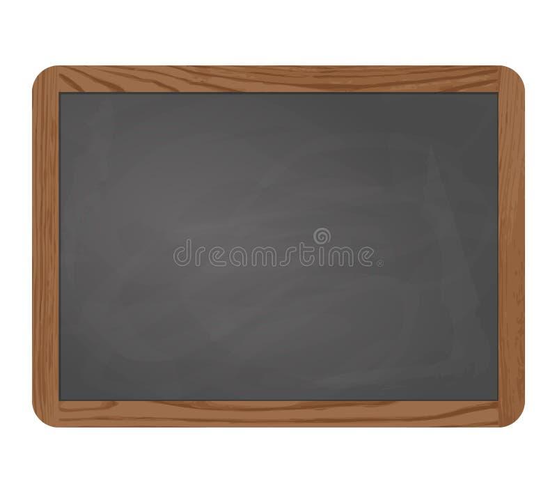 Gris de tableau noir d'ardoise avec le cadre en bois photos libres de droits