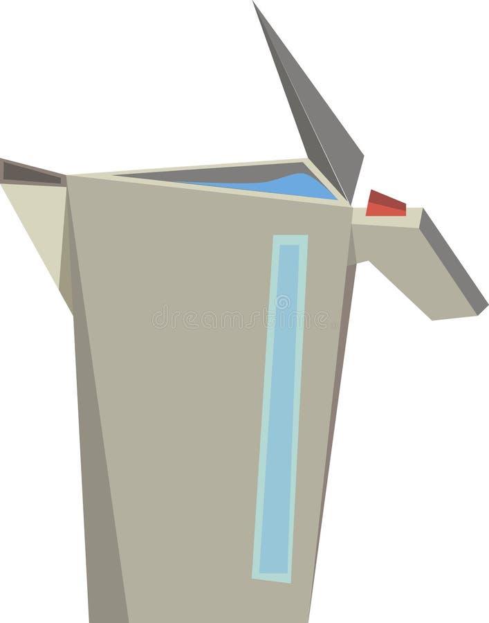 Gris del metal de la caldera en vector imágenes de archivo libres de regalías