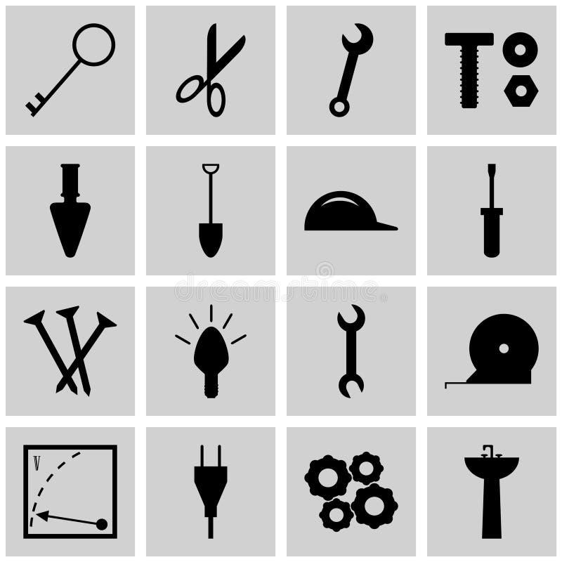 Gris determinado de los iconos de la reinstalación del vector de la reinstalación del icono, cuadrado, ilustración del vector