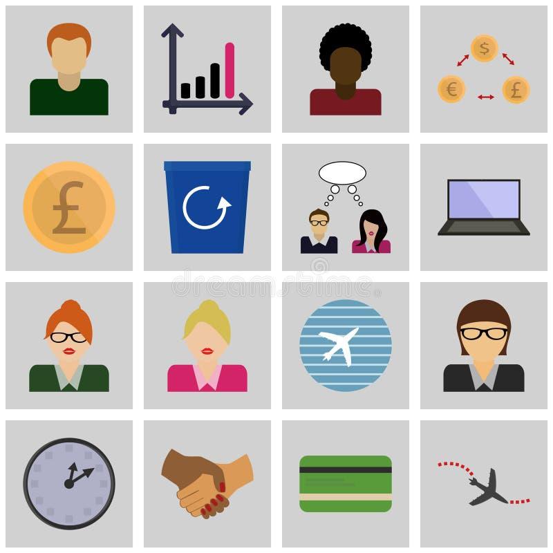 Gris determinado de los iconos del vector busnes/de los ingresos del icono, cuadrado libre illustration