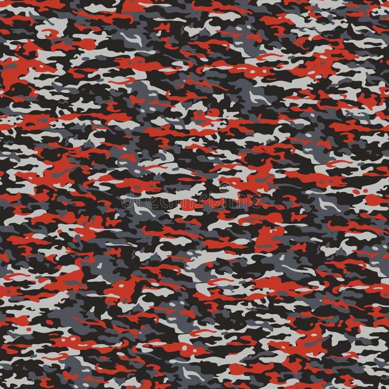 gris et camouflage rouge illustration stock image du conception 49270037. Black Bedroom Furniture Sets. Home Design Ideas