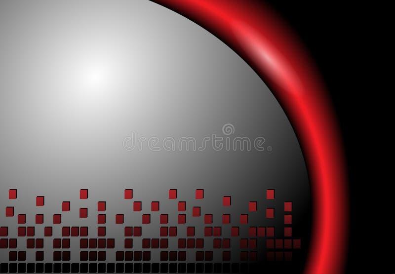 Gris et rouge abstraits de fond illustration libre de droits