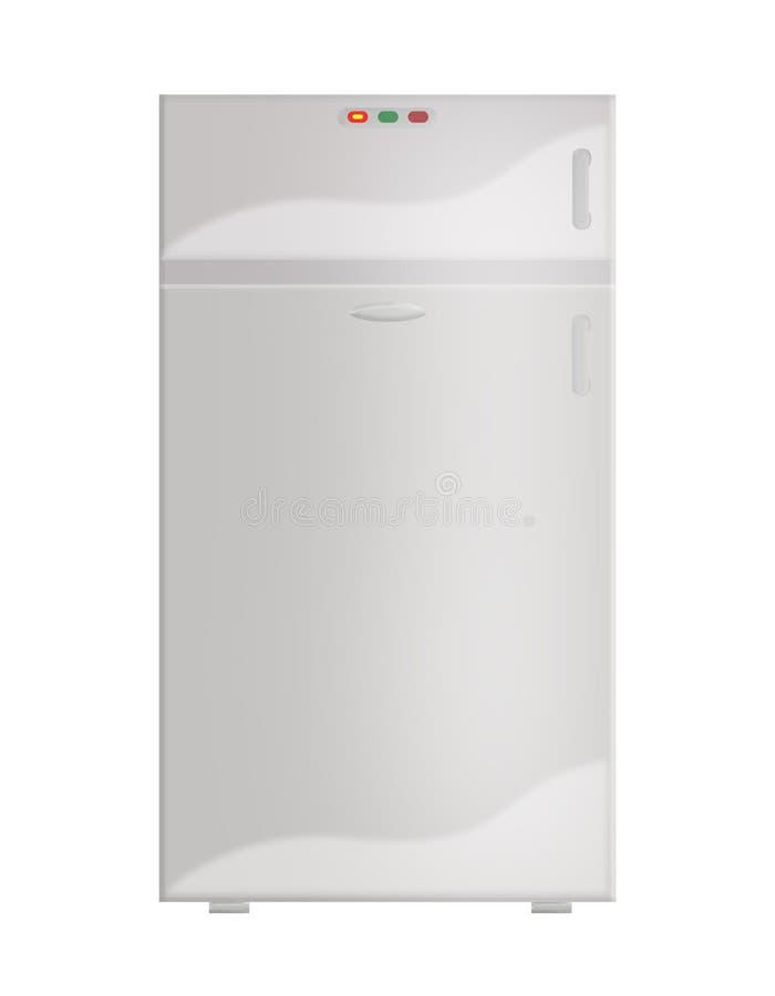 gris fermé de réfrigérateur photographie stock