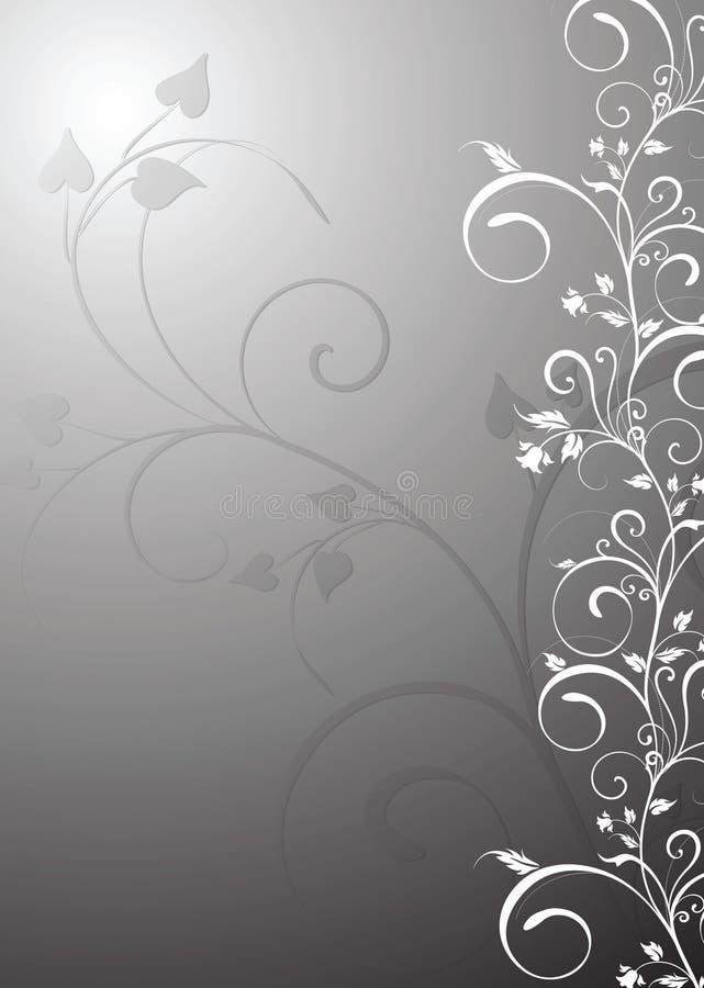 Gris floral del fondo stock de ilustración