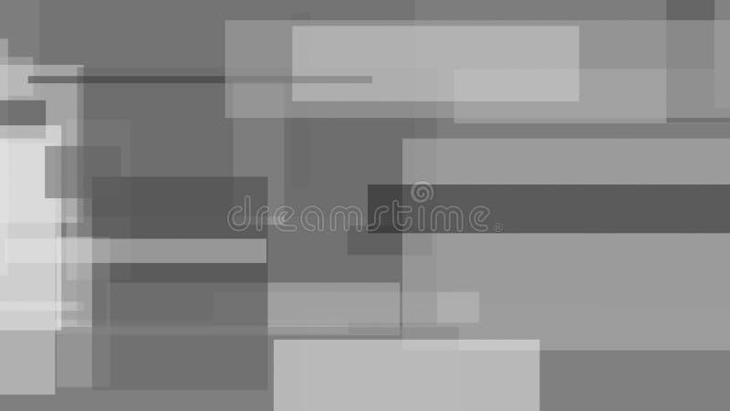 Gris, fondo abstracto blanco y negro del ejemplo de los rectángulos libre illustration