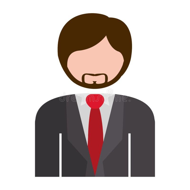 Gris formel de costume de demi homme de corps illustration libre de droits