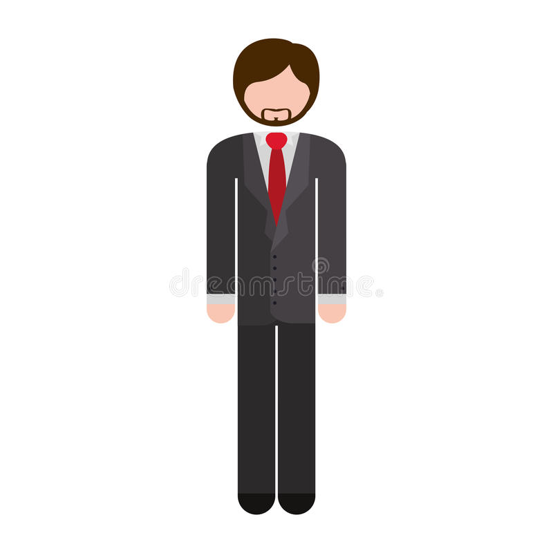 Gris formel de costume de plein homme de corps illustration libre de droits