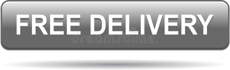 Gris libre del butoon de la entrega stock de ilustración