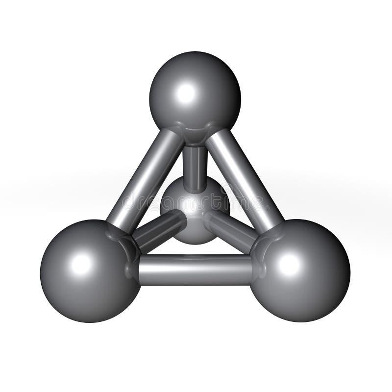 Gris métallique de structure de molécule illustration libre de droits