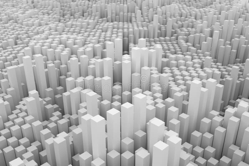 Gris ou rendu noir et blanc de B&W 3D Abrégé sur fond SH illustration libre de droits