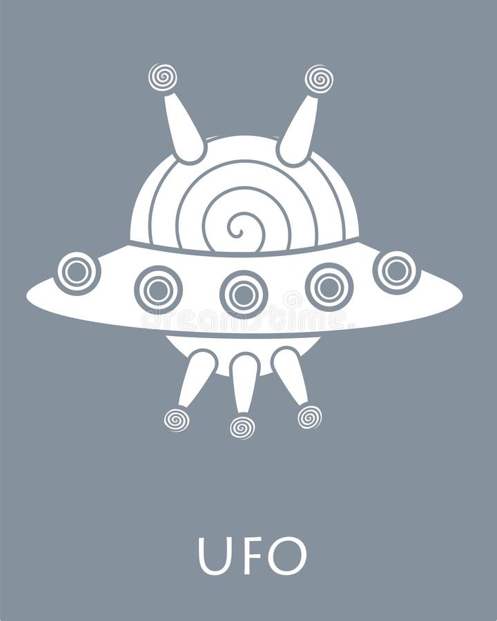 Gris y blanco del UFO imagenes de archivo