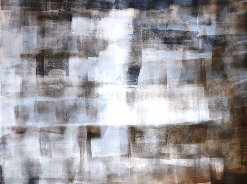 Gris y pintura del arte abstracto de Brown fotografía de archivo libre de regalías