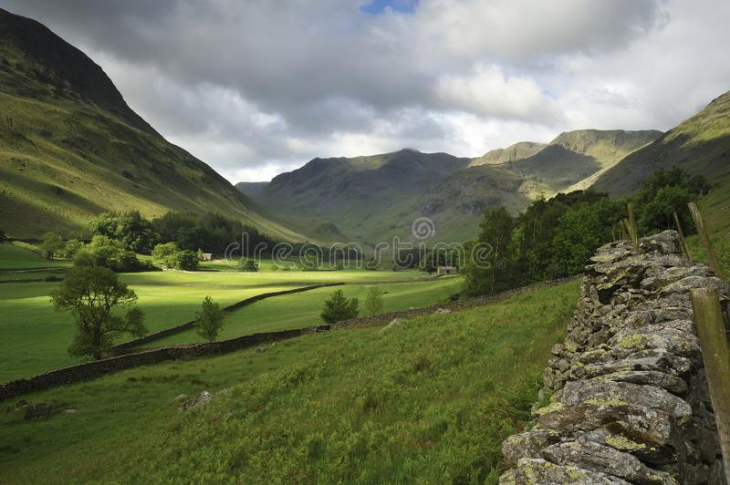 Download Grisedale Valley stock image. Image of farmland, grisedale - 25534817