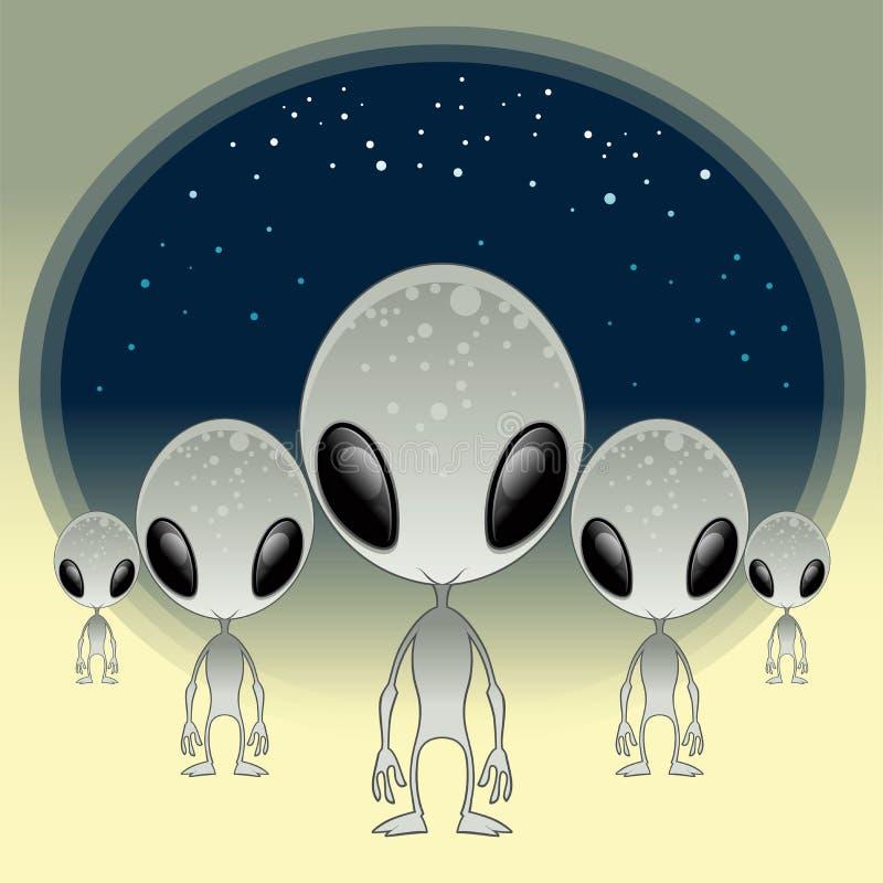 Grises - UFO ilustración del vector