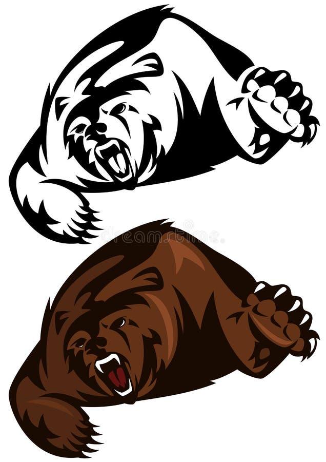 Grisslybjörn royaltyfri illustrationer