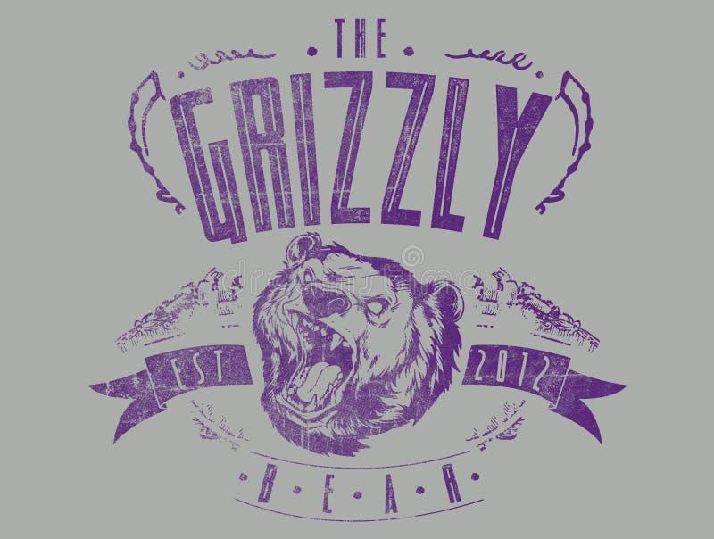 Grisslybjörnen stock illustrationer