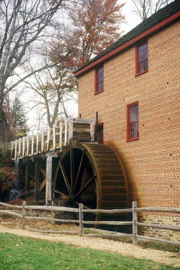 Grist mill in Reston, VA stock photo