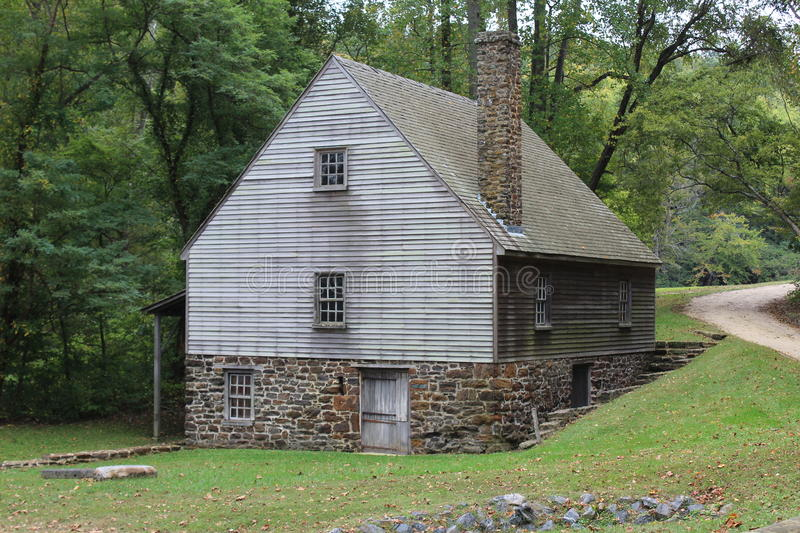 Grist Mill at Stratford Hall stock photography
