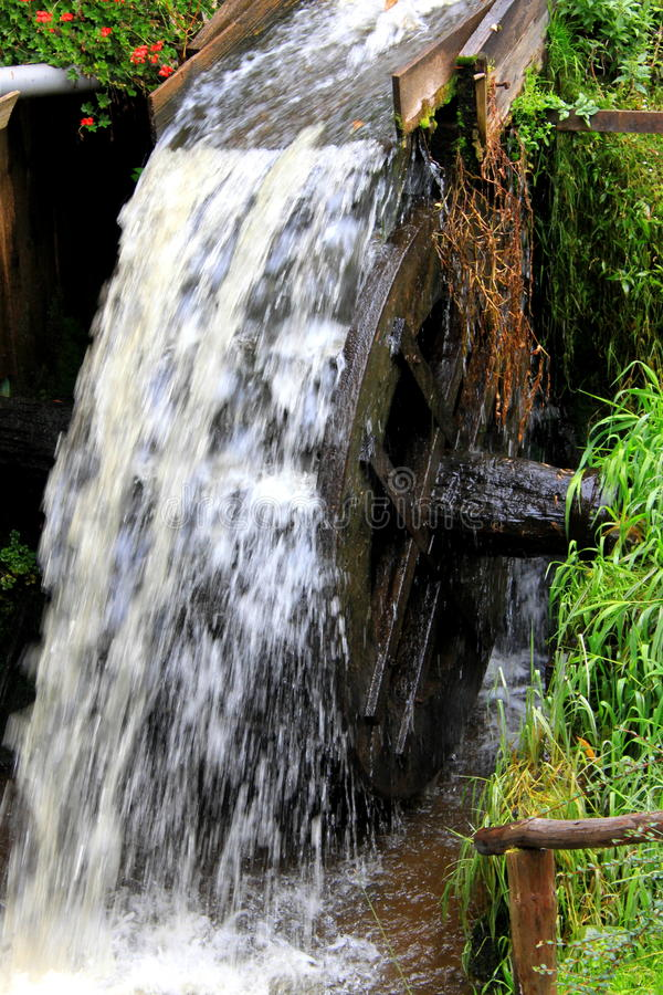 Grist Mill Water Wheel Stock Photography