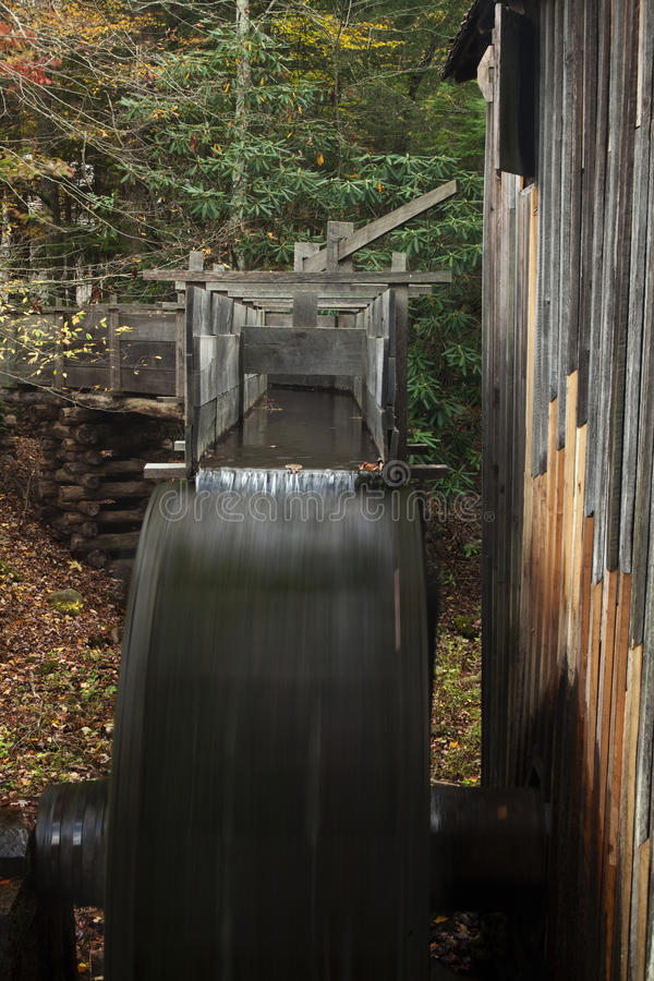 Grist Mill Wheel Turning Royalty Free Stock Images