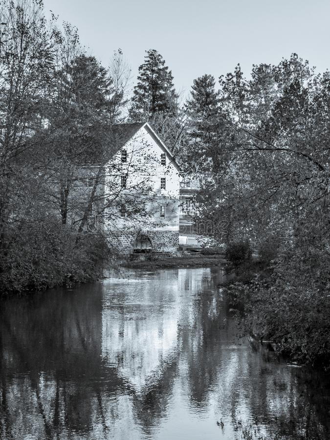 Gristmill Reflection. The old Gristmill of Historic Walnford in Upper Freehold New Jersey royalty free stock image