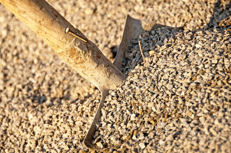 Grit Wit Shovel Royalty Free Stock Photography
