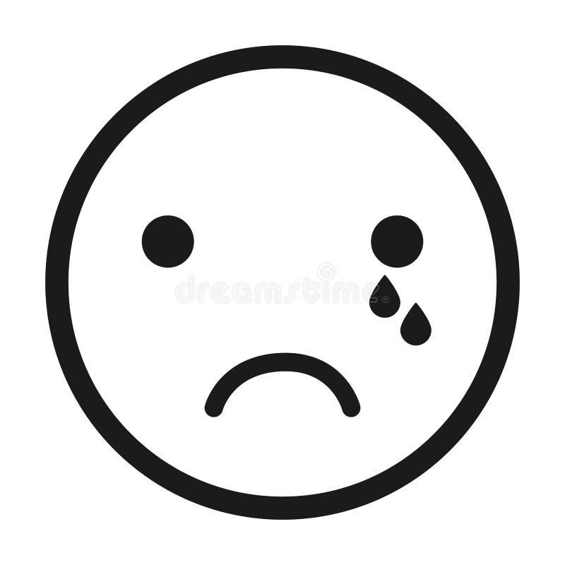 gritando, projeto isolado emoticon do ícone da cara ilustração do vetor