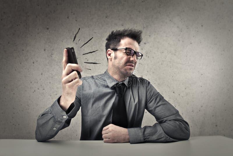Gritaria do telefone imagens de stock