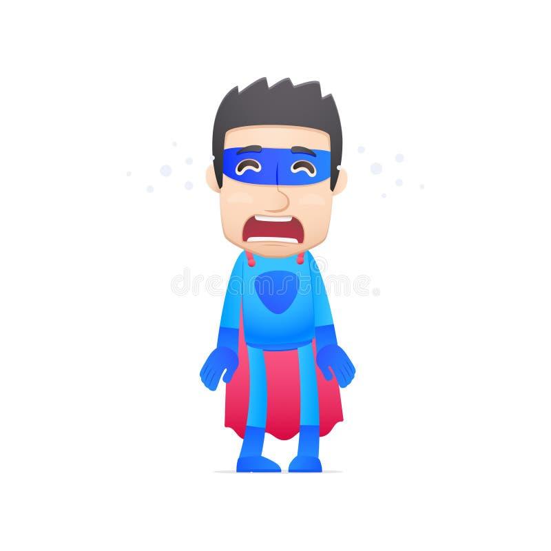 Griterío del super héroe ilustración del vector