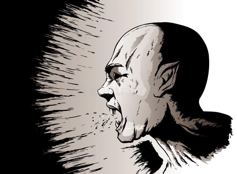 Griterío del vampiro stock de ilustración
