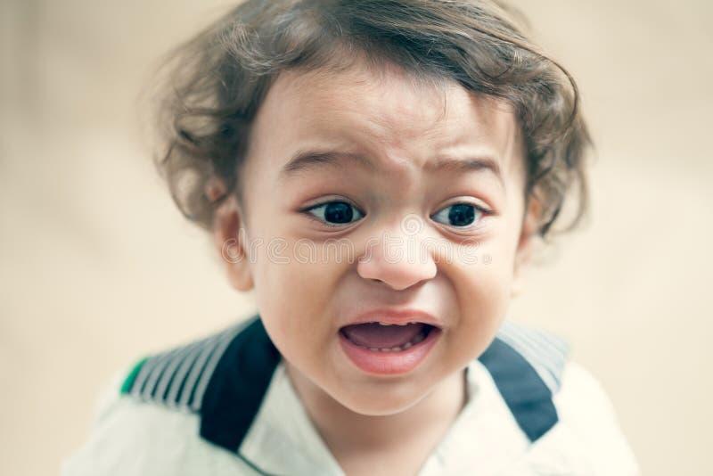 Griterío indio del bebé imágenes de archivo libres de regalías