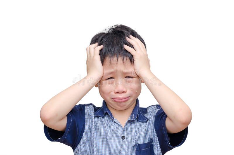 Grito asiático do menino imagens de stock
