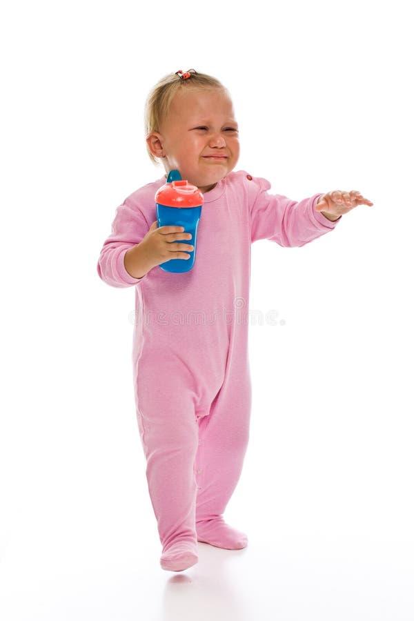 Grito bonito do bebê foto de stock royalty free