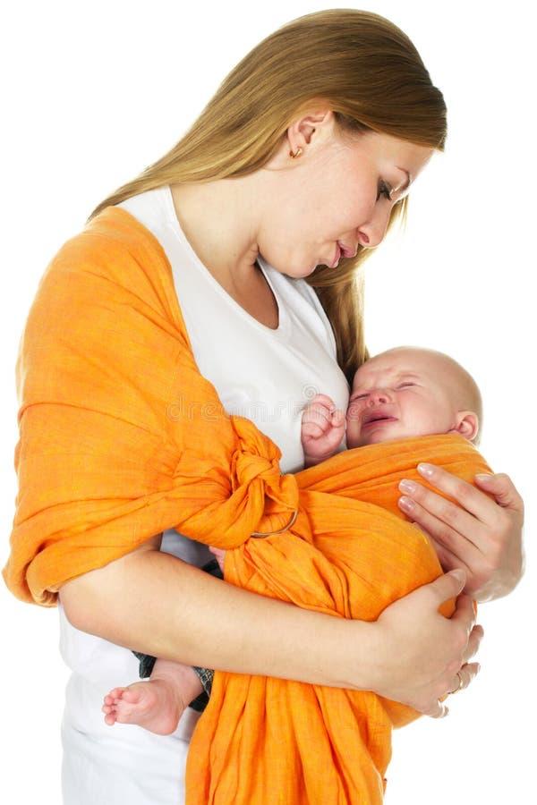 Grito do bebé imagens de stock royalty free