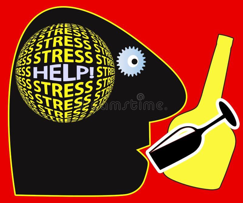 Grito para a ajuda ilustração royalty free