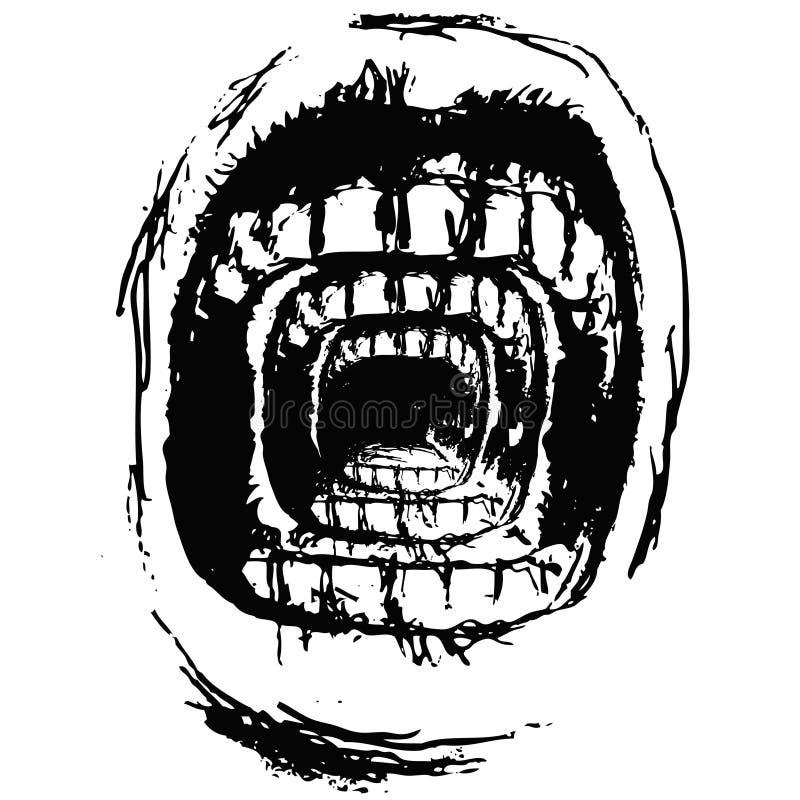 Grito surreal (vetor) ilustração do vetor