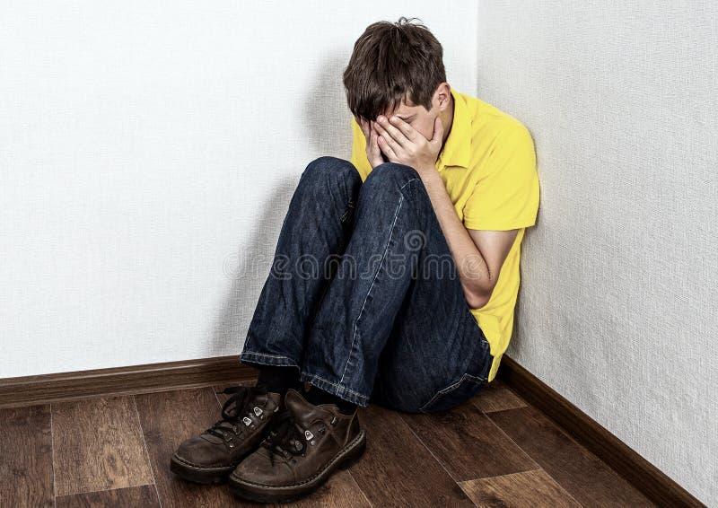Grito triste do adolescente imagem de stock royalty free