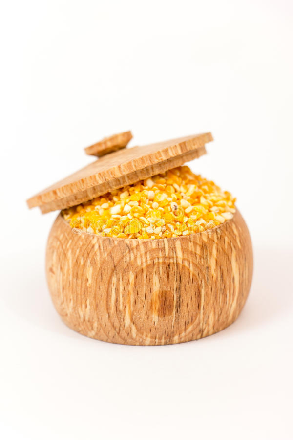 grits καλαμποκιού σωρός στοκ εικόνα με δικαίωμα ελεύθερης χρήσης