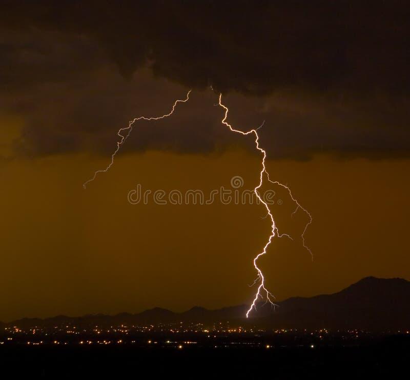 Gritty Lightning Stock Image