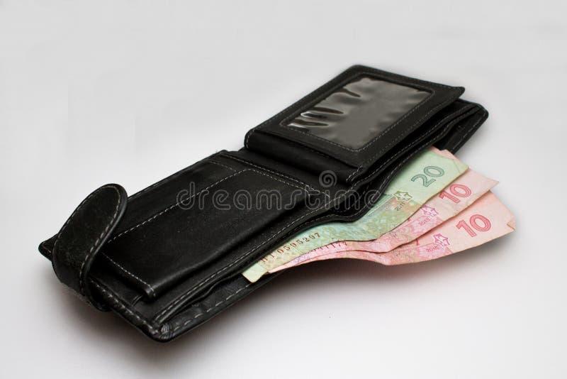 Grivna ucraino in portafoglio fotografia stock libera da diritti