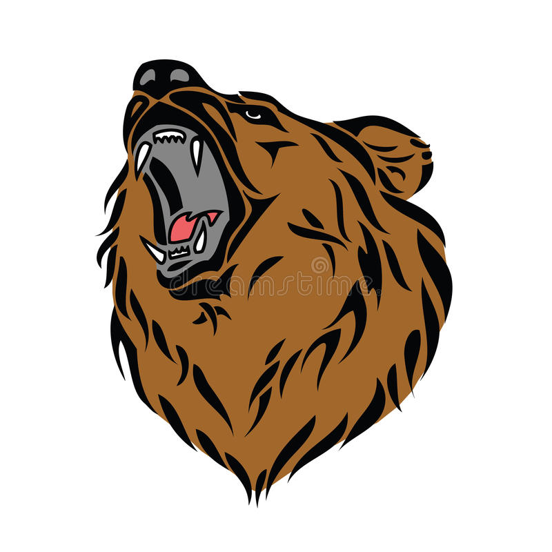 Download Grizzly bear head stock vector. Illustration of natural - 26618583