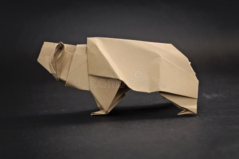 Download Grizzly Bear Origami Stock Photo Image Of Predator Decorative