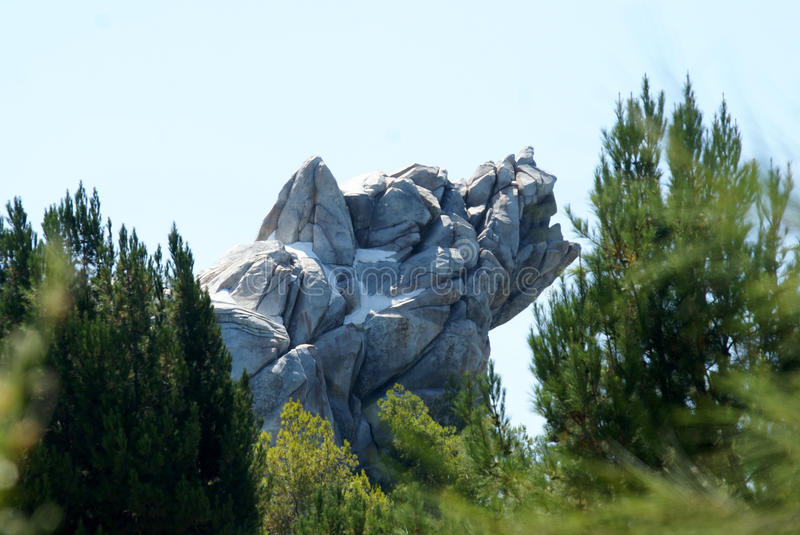 Grizzly River Run. At Disneyland's California Adventure is a wet raft ride through Grizzly peak stock photography