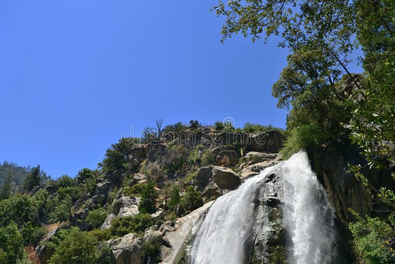 Grizzly waterfall in Sequoia and Kings Canyon National Park, California. USA royalty free stock images