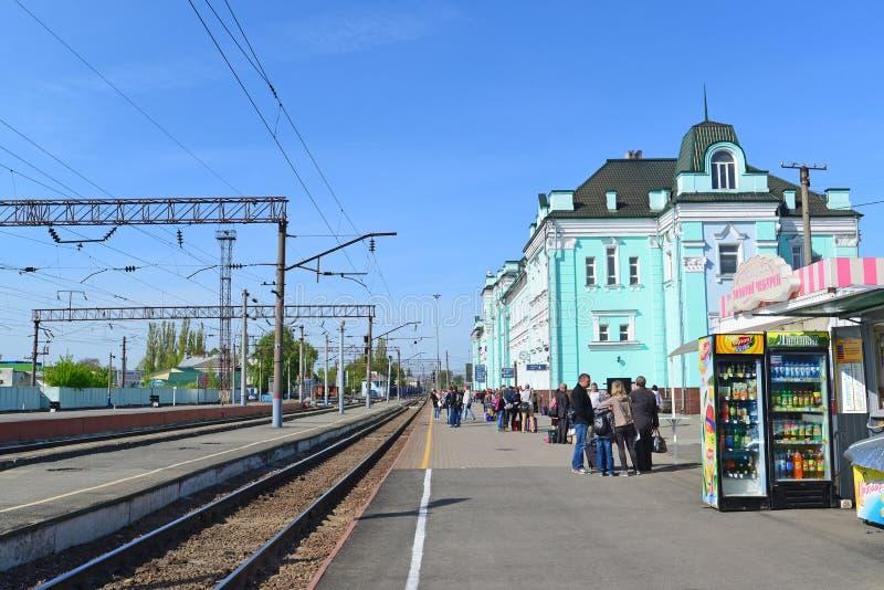 GRJAZI, RUSSIA - 28.08,2015. Train Station - major railway hub in the South-Eastern Railway. GRJAZI, RUSSIA - 28.08,2015. Train Station - a major railway hub in royalty free stock image